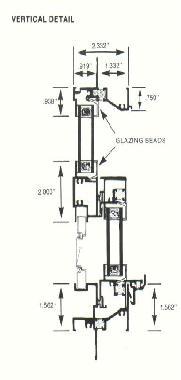 500 Thermal Break Single Hung Primary Aluminum Window