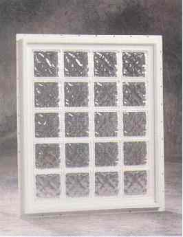Hy lite prestige fixed vinyl glass block window columbia Plastic glass block windows